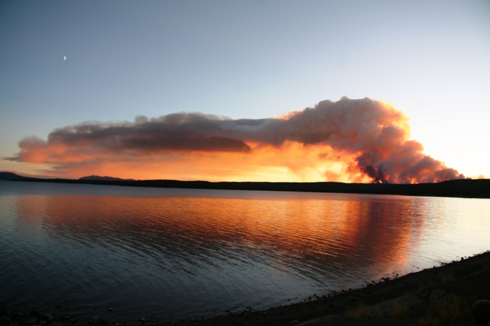 Arnica Fire 9/24, From Lake Hotel